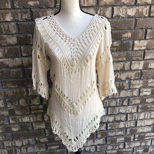Boho Crochet Tunic